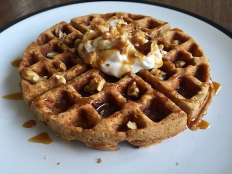 Easter carrot cake waffles recipe